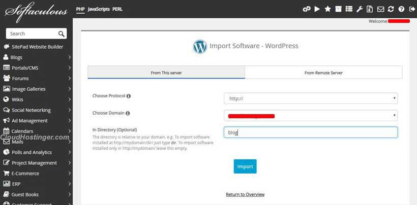 mendeteksi instalasi wordpress